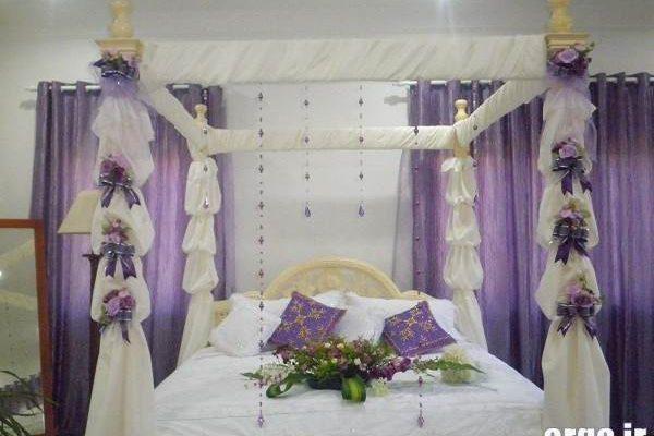 تزیین اتاق خواب عروس زیبا