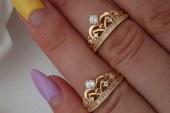 مدل انگشتر و گوشواره طلا عروس