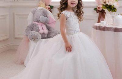 مدل لباس عروس بچه گانه 1396