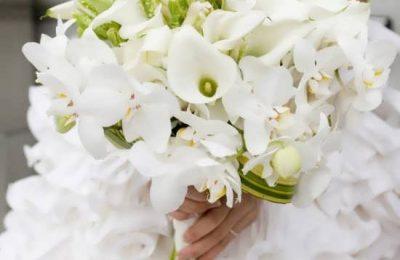 مدل های دسته گل عروس با گل ارکیده