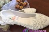 مدل کفش عروس بدون پاشنه ۲۰۱۷