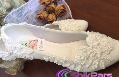 مدل کفش عروس بدون پاشنه 2017