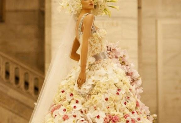 لباس عروس از جنس گل