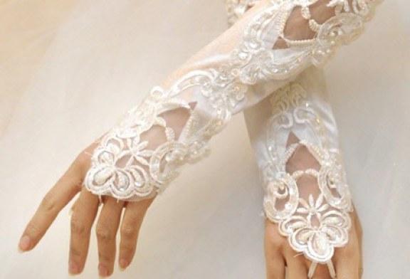 مدل دستکش عروس با ساتن و تور۹۵
