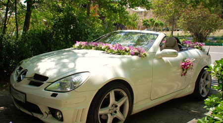مدل ماشین عروس،گل کاری ماشین عروس