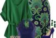 ست لباس 2017,ست لباس به رنگ سبز