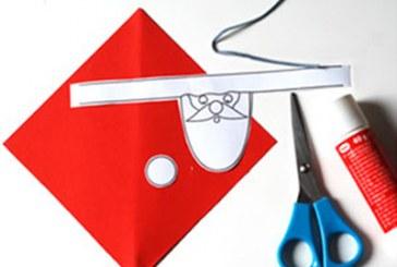 آموزش تزیین دستمال سفره بابانوئل برای کریسمس