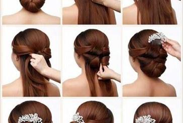 آموزش مدل مو مناسب نامزدی و عروسی