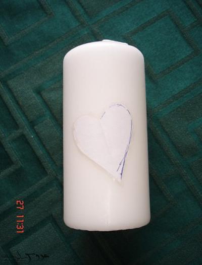 تزیین سینی و شمع عروسی, تزیین شمع برای عروسی
