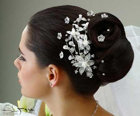 مدل آرایش موی عروس جدید 95
