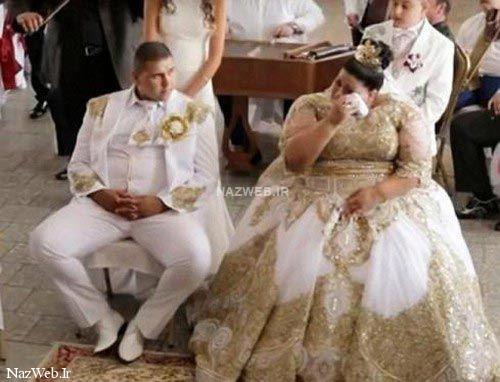 لباس عروس 600 میلیونی عروس 19 ساله ! تصاویر