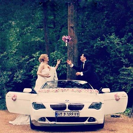 ژست عروس و داماد مخصوص آتلیه