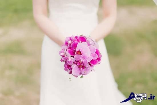 انواع دسته گل عروس شیک با گل ارکیده
