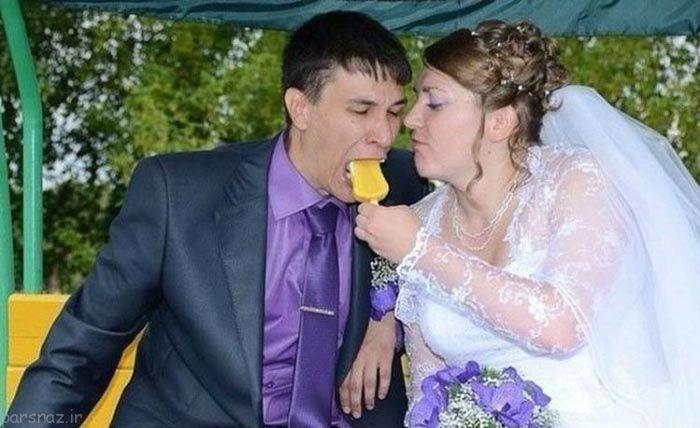عکس عروسی خنده دار2017