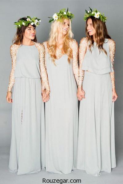 ژورنال زیباترین و شیک ترین مدل لباس ساقدوش عروس 2017،1396