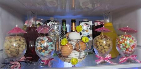 میوه آرایی یخچال عروس,تزیین تخم مرغ یخچال عروس