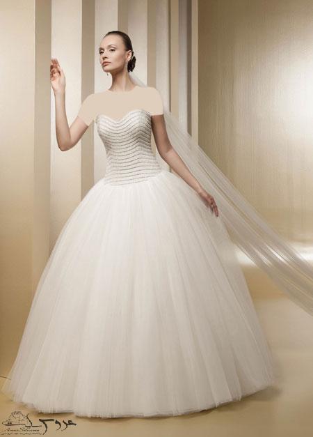 مدل لباس عروس پرنسسی 2017