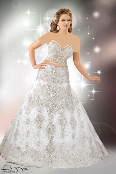 مدل لباس عروس عربی , لباس عروس عربی 2013