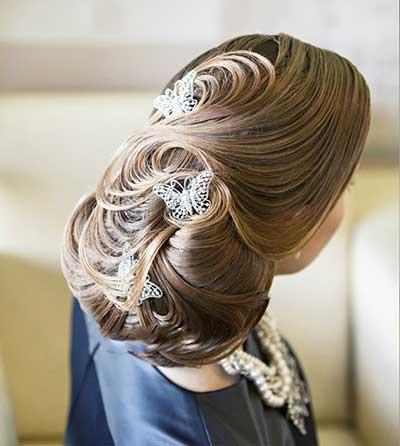 جدیدترین شینیون مو عروس