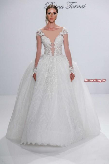 لباس عروس اروپایی و گیپور