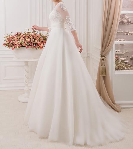 لباس عروس آستین دار96