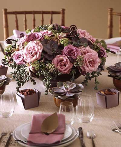 گل آرایی زیبا مجالس عروسی با گل رز