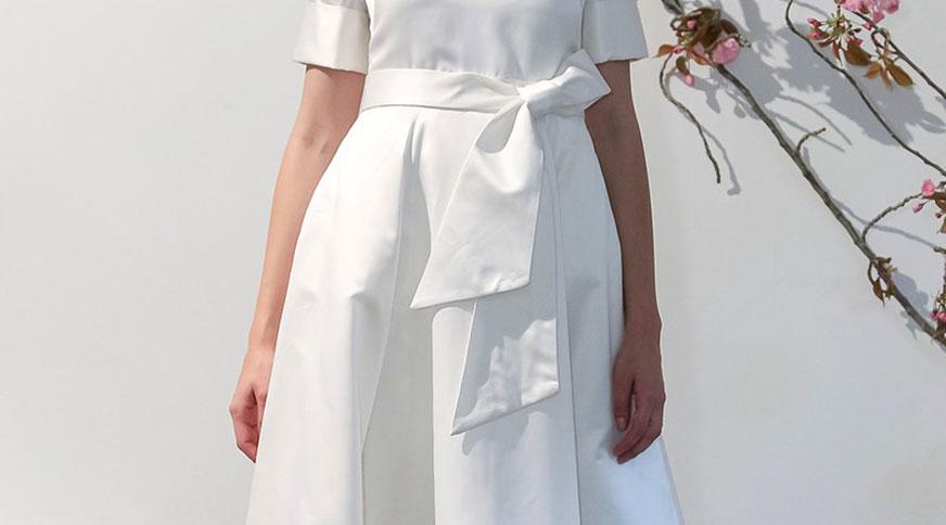 لباس عروس با پاپیون بزرگ