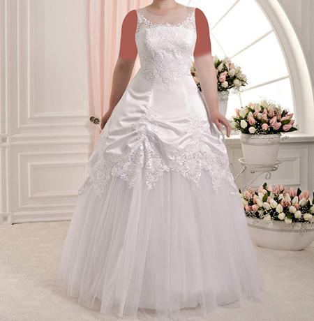 مدل لباس عروس برای عروس خانم های سایز بزرگ