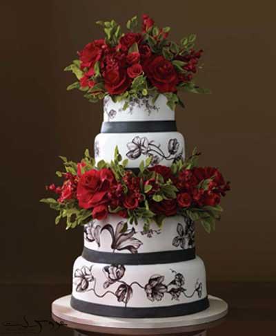 عکس کیک عروسی جدید و زیبا 95